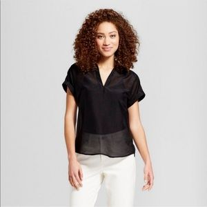 A New Day Black Short Sleeve Top